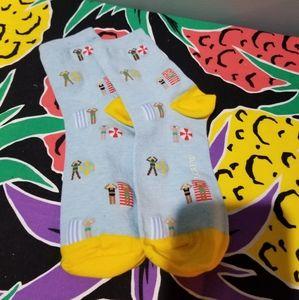 J crew beach summer print socks
